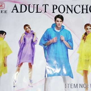 adult poncho/ raincoat for motorcycle riders
