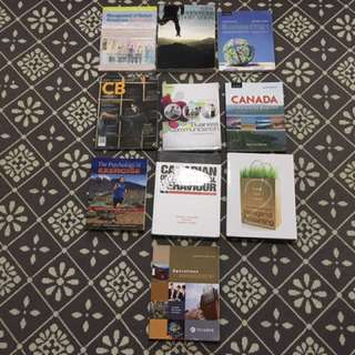 Guelph Humber Business and Elective Textbooks