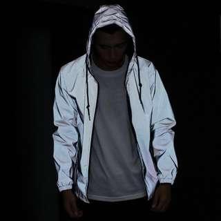 3M Reflective Jacket windbreaker night Hooded Fluorescent