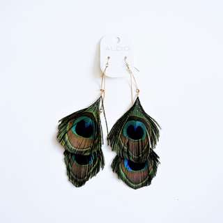 ALDO - Peacock Feather Drop/Hanging/Dangling Earrings