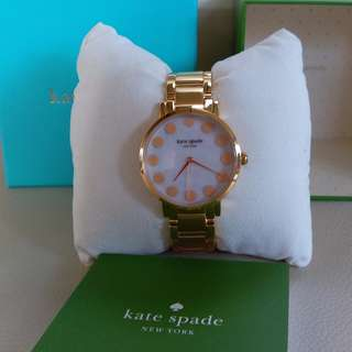 Kate Spade New York Gramercy Dot Gold Tone Bracelet Watch 1YRU0737