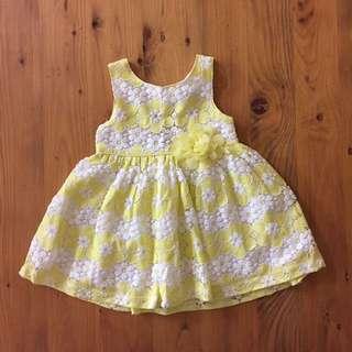 Girls lace summer dress - size 9-12 mths