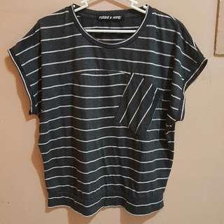 Folded & Hung Gray Striped Shirt