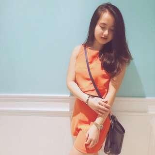MISS SELFRIDGE Orange Jumpsuit