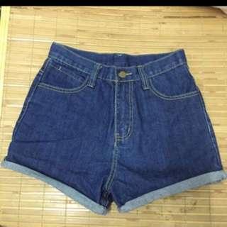 高腰 牛仔短褲