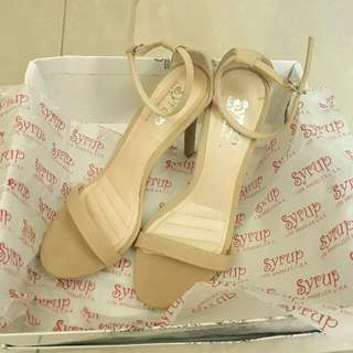 SALE! P are P Nude One Strap Heels