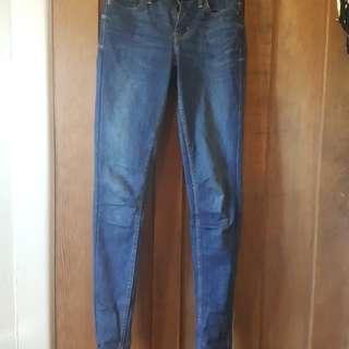 Levi jeans- super skinny- size 24