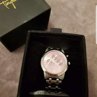 As new Mimco Pink/Silver Sportivo Watch