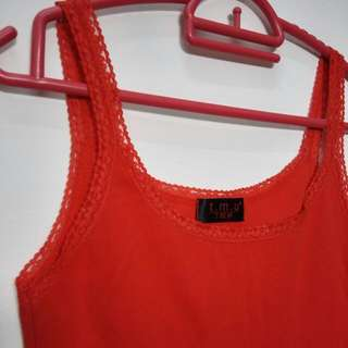 📣(Free.pos)Red Sexy Long Singlet Top