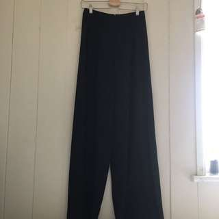 Sportsgirl black flare wide leg pants