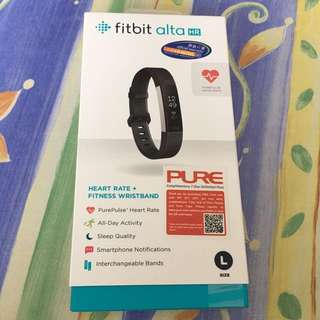 Black fitbit Alta HR with Heartbeat Function 全新