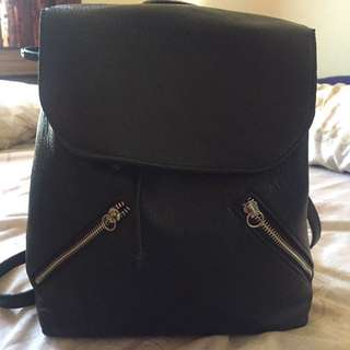 Stradivarius Black Backpack