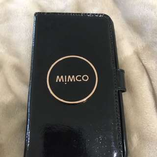 Mimco I phone 6plus black and rose gold case