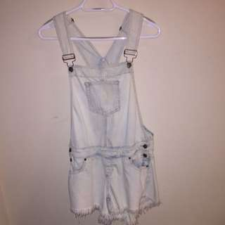 Guess Denim Short Overalls