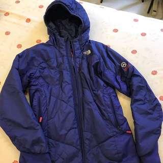 Northface亮藍色保暖外套