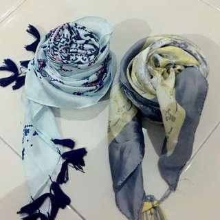 Kerudung segi4 tassel silk (bundling)