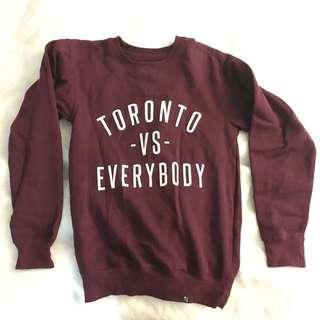 Peace collective toronto vs everybody crew neck sweatshirt