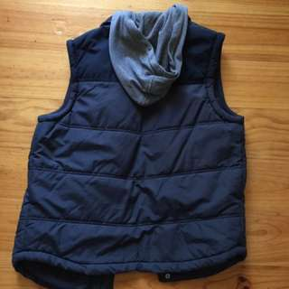 Small Blue Vest - Detachable Hood