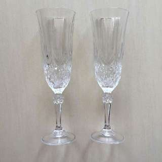 Cristal De Flandre Crystal Champagne Glass From France