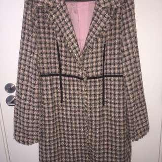 Pink Tweed Coat