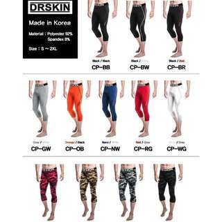 Dr Skin Running Compression Tights 3/4 Length