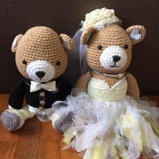 Couple wedding bear