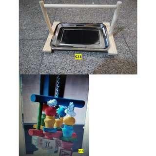 Bird Parrot Stand / Bird Parrot Perch / Bird Toy / Parrot Toy Blocks