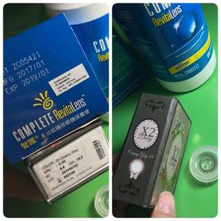 NEW Softlens X2 (-2.00) + complete solution water