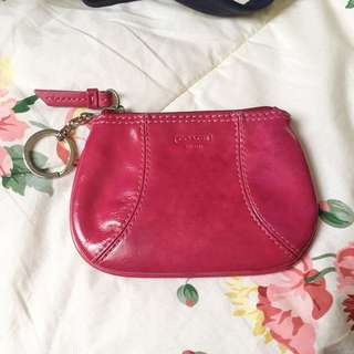 Coach leather coin purse
