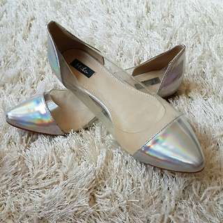 Holographic flats / shoes size 7