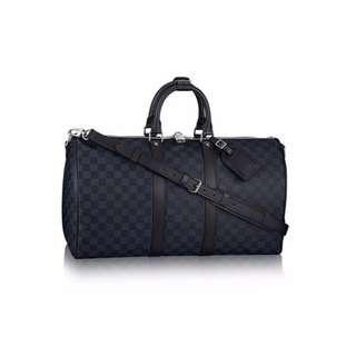 LOUIS VUITTON KEEPALL BANDOULIERE 45 LUGGAGE BAG N41349 IN COBALT / NAVY