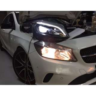Mercedes W176 A class LED head lamps
