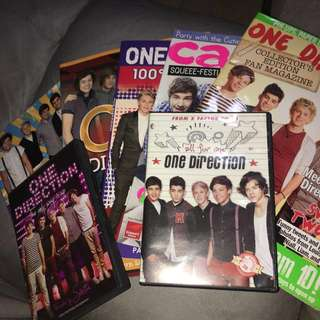 ONE DIRECTION MAGAZINES + CDS