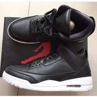 us10 Air Jordan 3 RETRO 黑白 Cyber Monday
