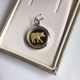 Ox gold pendant necklace charm citigems