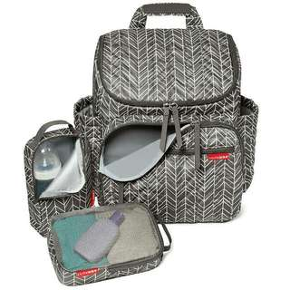 Forma Backpack Diaper Bag - GREY FEATHER