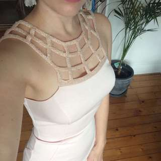 Pale pink evening dress