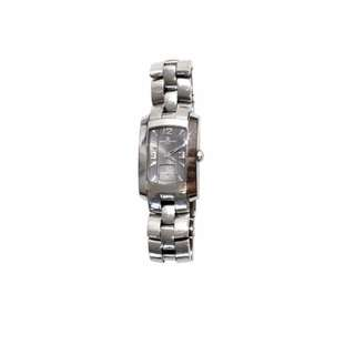 BAUME MERCIER HAMPTON MILLEIS LADIES' GREY DIAL SWISS QUARTZ STAINLESS STEEL WATCH