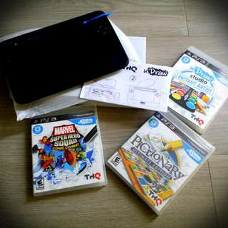 PS3 UDRAW GAME TABLET AND THREE GAMES