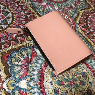 Pink foldable wallet