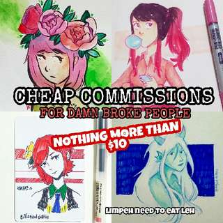 CHEAP COMMISSIONS FOR BROKE PEOPLE