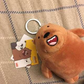 🚚 正版授權 we bare bears 棕熊 鑰匙圈
