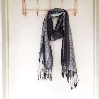 Black and brown scarf brand new