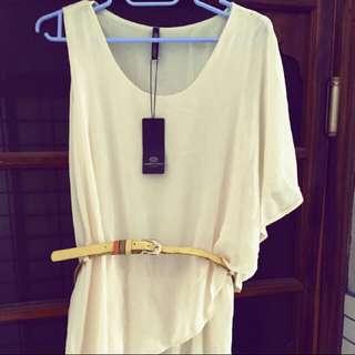 [全新]露肩雪紡洋裝