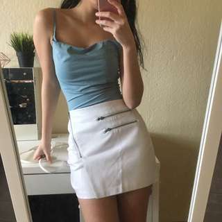 White Supre leather skirt