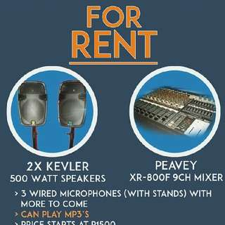 Affordable Sound / Audio System Renting
