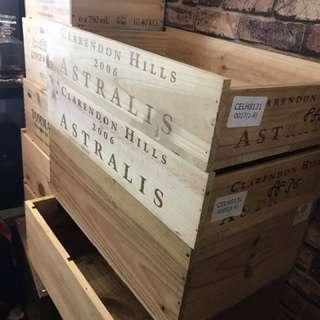 Wine crate wooden carton
