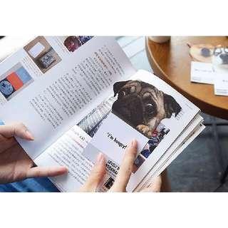 可愛狗狗書籤 雙面 三入
