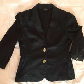 Esprit Collection Black 3/4 Sleeves Blazer