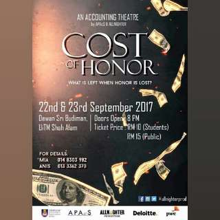 Theatre COST OF HONOR